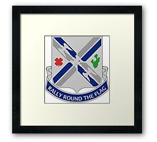 115th Infantry Regiment - Rally Round The Flag Framed Print