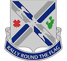 115th Infantry Regiment - Rally Round The Flag Photographic Print