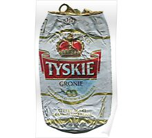 Tyskie - Crushed Tin Poster