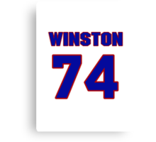 National football player Winston Justice jersey 74 Canvas Print