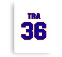 National football player Tra Battle jersey 36 Canvas Print