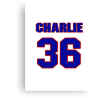 National football player Charlie Bivins jersey 36 Canvas Print