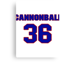 National football player Cannonball Butler jersey 36 Canvas Print
