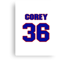 National football player Corey Dowden jersey 36 Canvas Print