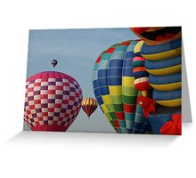 NC hot air balloons Greeting Card