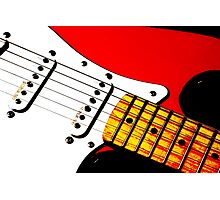 My Red Guitar 3 Photographic Print