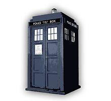 Doctor who TARDIS Artistic sketch by BobbyAllenArts