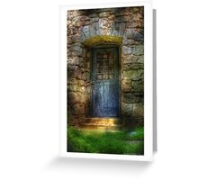 A rather old door leading to somewhere Greeting Card