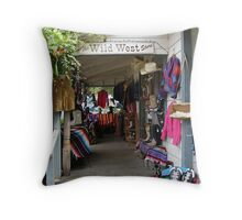 The Wild West Store Throw Pillow