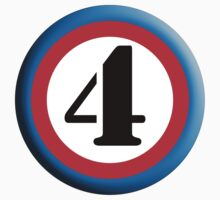 FOUR, ROUNDEL, NUMBER 4, FOURTH, 4,TEAM SPORTS, Competition, by TOM HILL - Designer