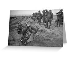 Motorcycle Jumps Greeting Card