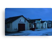 Sukanen #7 - 3-Star Service Station, Telephone & Post Office, Baildon Municipal Office, Radio Shop Canvas Print