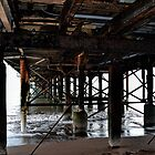 Under Teignmouth Pier . Devon UK by lynn carter