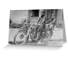 Indian Motorcycle Boys Greeting Card