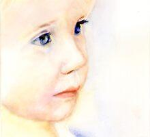Watrecolor portrait of a child by Volua