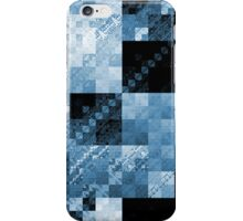 Blue Checkered Hot Mess iPhone Case/Skin