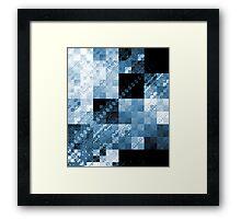 Blue Checkered Hot Mess Framed Print