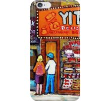 TORONTO PAINTINGS TORONTO SCENES TORONTO ART TORONTO DELIS  YITZ'S DELI  iPhone Case/Skin