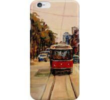 PAINTINGS OF TORONTO TORONTO ART TORONTO CITY SCENE PAINTINGS TORONTO TRAMS AND RESTAURANT PAINTINGS iPhone Case/Skin