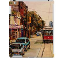PAINTINGS OF TORONTO TORONTO ART TORONTO CITY SCENE PAINTINGS TORONTO TRAMS AND RESTAURANT PAINTINGS iPad Case/Skin