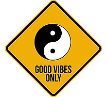Good vibes!!! Yin Yang - Music is the answer  Photographic Print