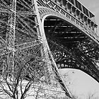 Eiffel Tower from below by Steve Van Aperen