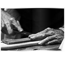 Hand of a craftsman. Poster