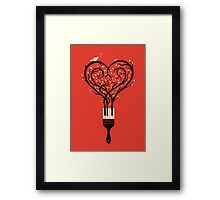Paint your love song Framed Print