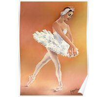 Odette Dancing in Swan Lake Poster