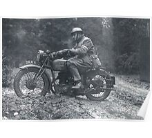 British Army Motorcycle Poster