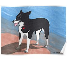 Dog on the Beach! Poster