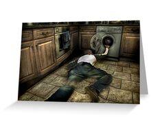 Bad washing machine trip Greeting Card