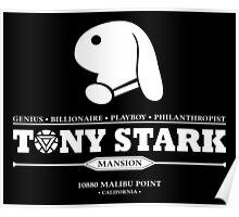 Tony Stark Mansion (White) Poster