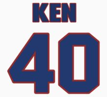 National football player Ken Lacy jersey 40 by imsport
