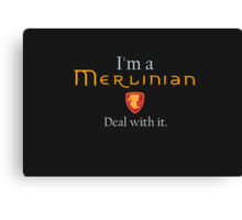 Deal with it: Merlin Canvas Print