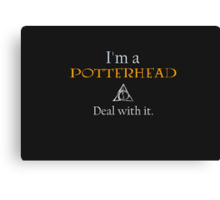 Deal with it: Harry Potter Canvas Print