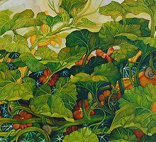 pumpkin in the garden by elisabetta trevisan