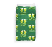 I love BIG JUGS green shamrocks St Patricks day beer jugs Duvet Cover