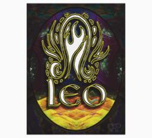 LEO Zodiac Sign Colorful Fractal Psychedelic Design Kids Clothes