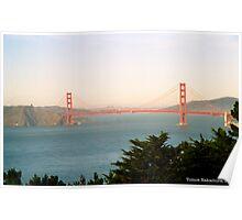 Golden Gate Bridge Ocean Beach View Poster