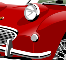 Austin Healey Frogeye Sprite tartan red  Sticker