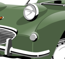 Austin Healey Frogeye Sprite leaf green Sticker