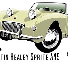 Austin Healey Frogeye Sprite old English white by car2oonz
