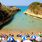 Lovers bay in Corfu by Meeli Sonn