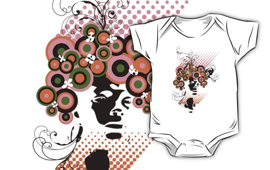Dollie :: Funky Bloom Hair T-shirt by fatfatin