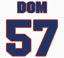 National football player Dom DeCicco jersey 57 by imsport