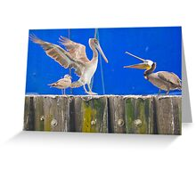 Get Off Of My Perch! Greeting Card