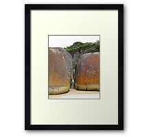 the glimpse 3 Framed Print