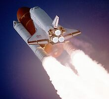 Shuttle Launch by Vintagee
