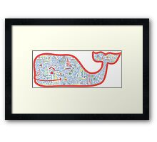 Lilly Pulitzer Whale Get Nauti Framed Print